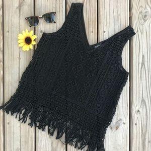 A.N.A. Crochet Knit Tank Top